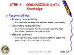 step 4 organizing data knowledge3