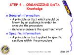 step 4 organizing data knowledge4