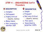 step 4 organizing data procedure1