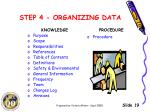 step 4 organizing data1