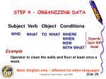 step 4 organizing data2