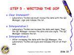 step 5 writing the sop3