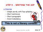 step 5 writing the sop4