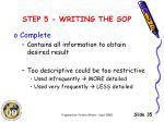 step 5 writing the sop5