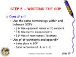 step 5 writing the sop7