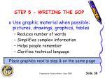 step 5 writing the sop8