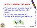 step 6 review the draft