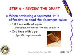 step 6 review the draft1