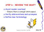 step 6 review the draft3