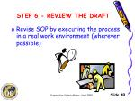 step 6 review the draft4