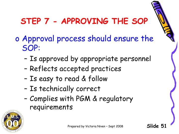 STEP 7 - APPROVING THE SOP