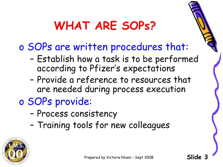 WHAT ARE SOPs?