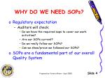why do we need sops