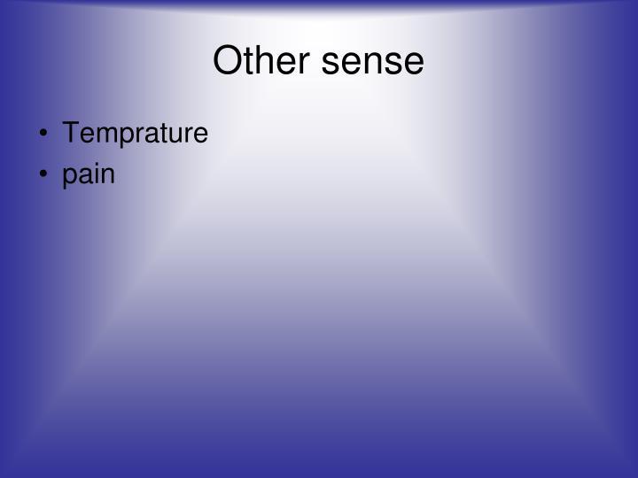 Other sense