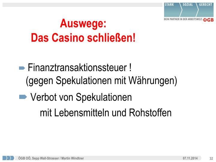 Finanztransaktionssteuer !