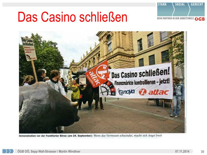 Das Casino schließen