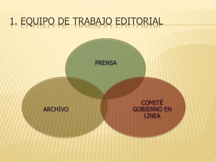 1. Equipo de trabajo Editorial