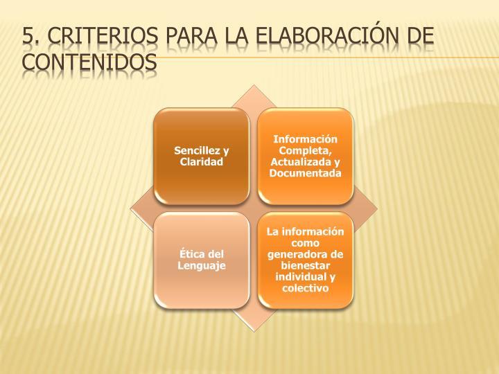 5. criterios para la elaboración de contenidos