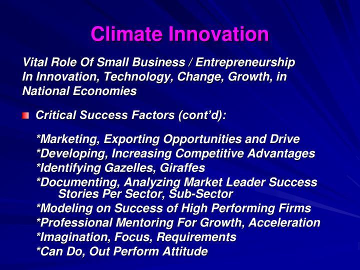 Climate Innovation