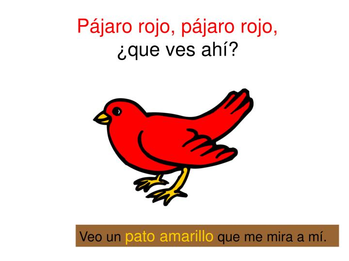 Pájaro rojo, pájaro rojo,