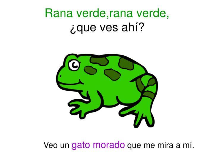 Rana verde,rana verde,