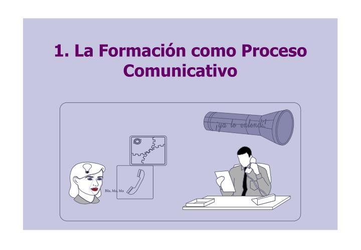 1. La Formación como Proceso Comunicativo