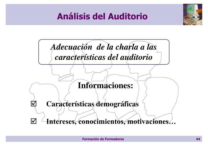 Análisis del Auditorio