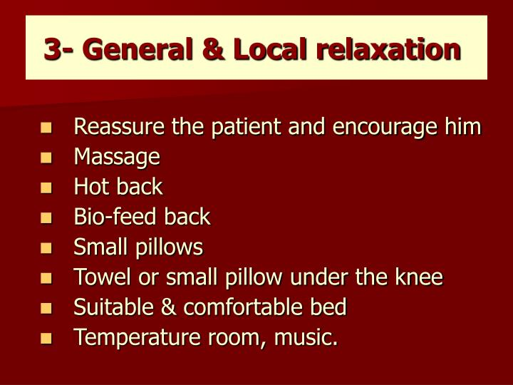 3- General & Local relaxation