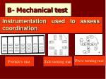 b mechanical test