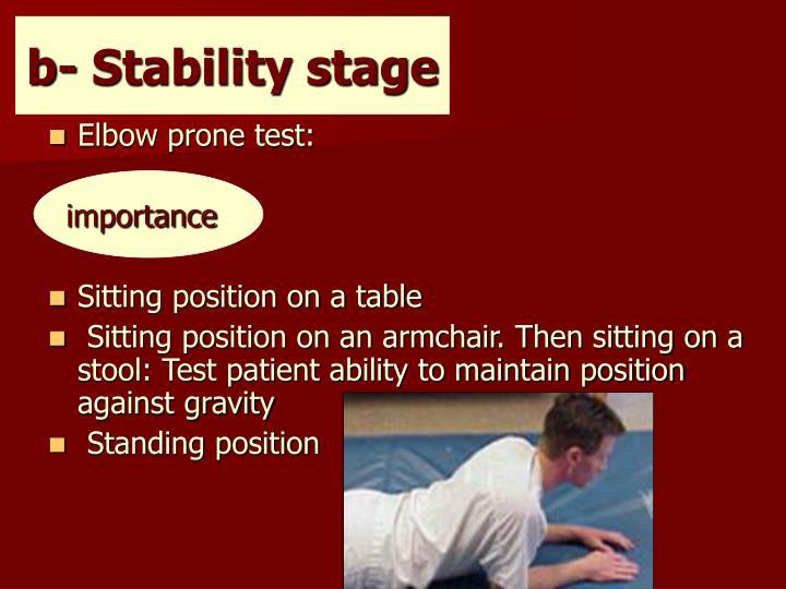b- Stability stage