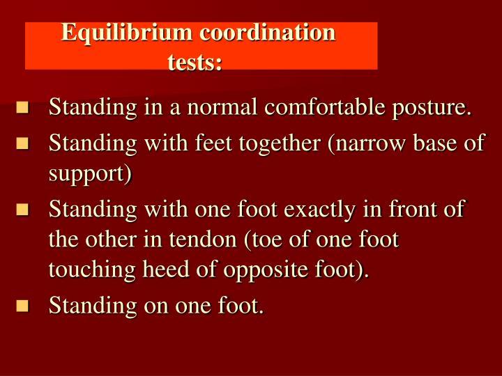 Equilibrium coordination tests: