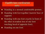 equilibrium coordination tests