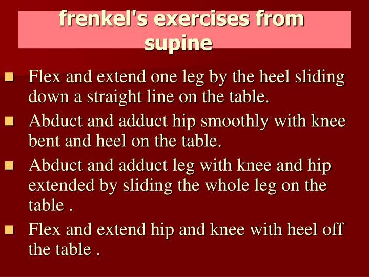 frenkel's exercises from supine