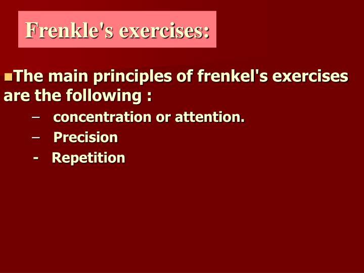 Frenkle's exercises: