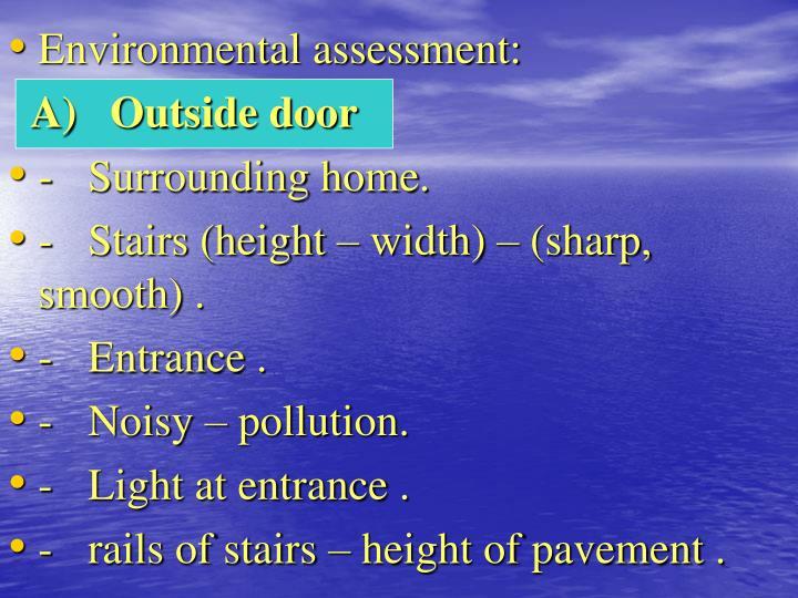 Environmental assessment: