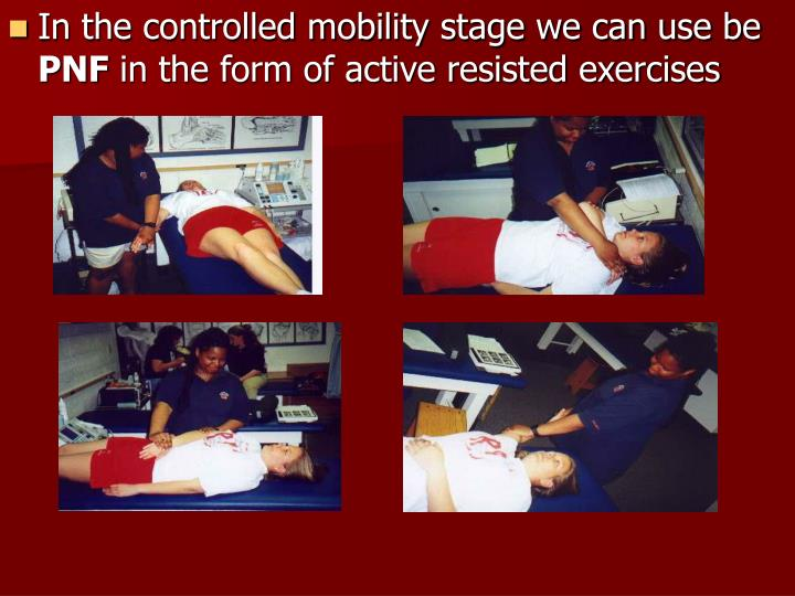 In the controlled mobility stage we can use be