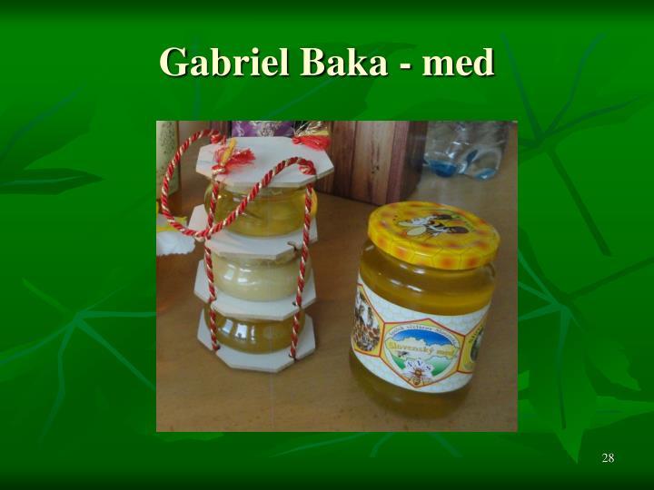 Gabriel Baka - med