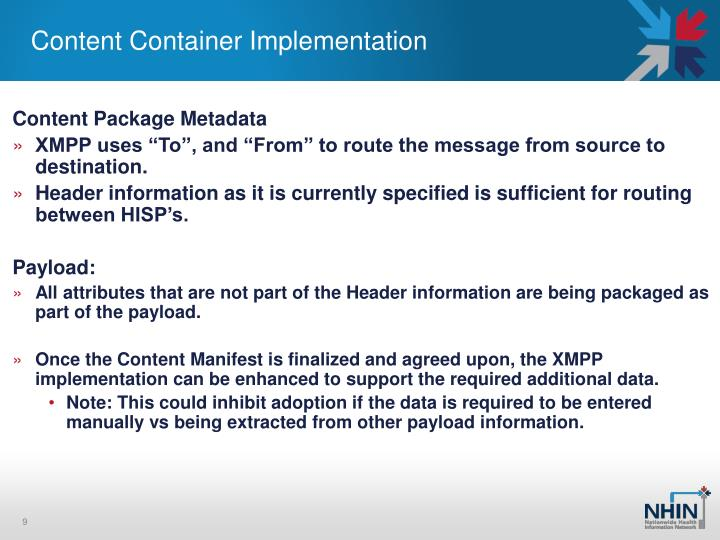 Content Container Implementation