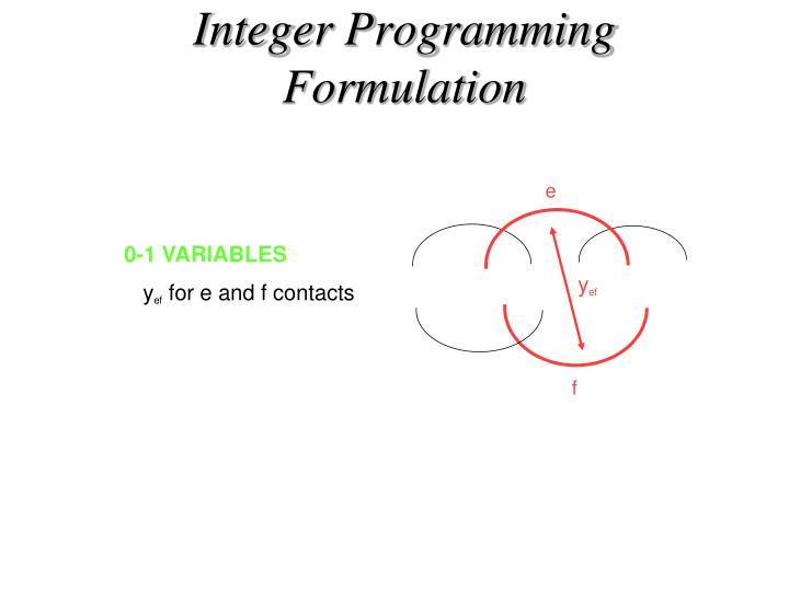 Integer Programming Formulation
