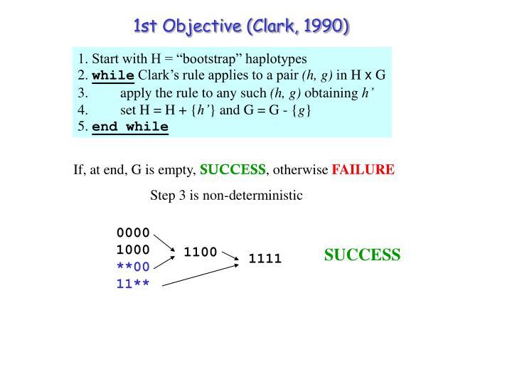 1st Objective (Clark, 1990)