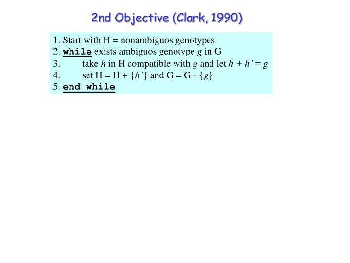 2nd Objective (Clark, 1990)