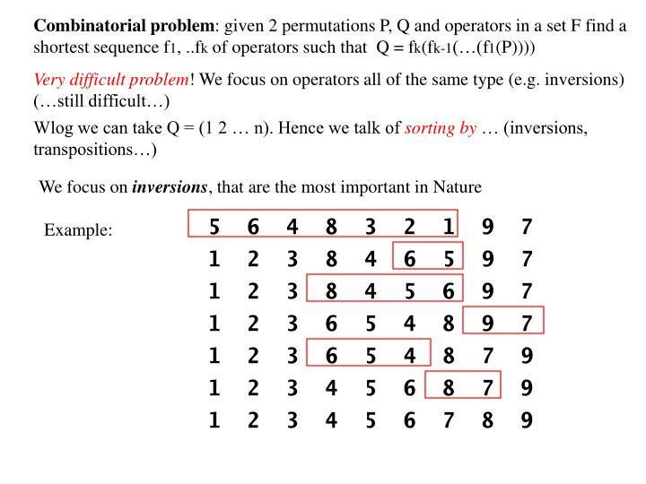 Combinatorial problem