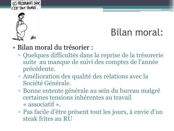 Bilan moral: