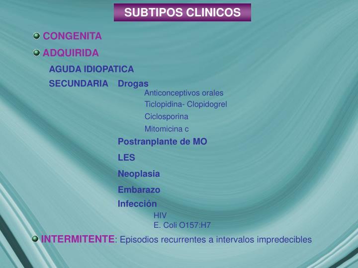 SUBTIPOS CLINICOS