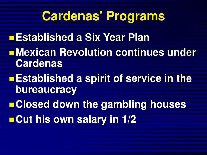 Cardenas' Programs