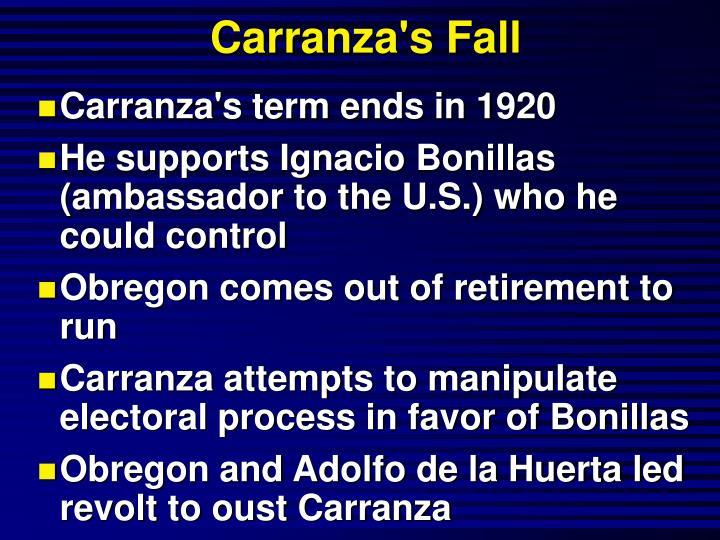 Carranza's Fall