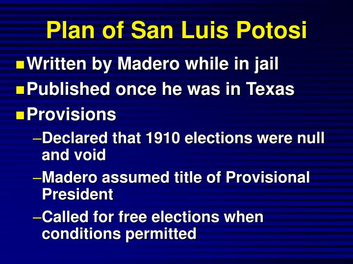 Plan of San Luis Potosi