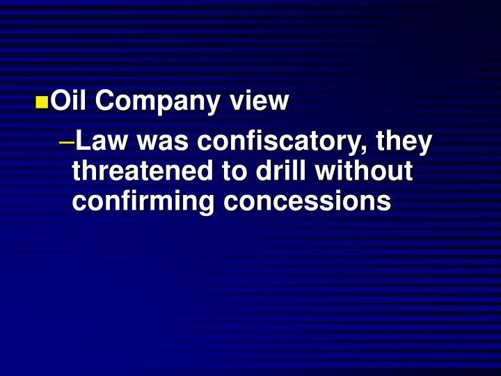 Oil Company view