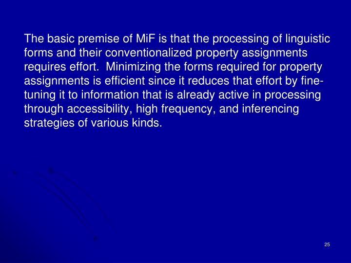 The basic premise of