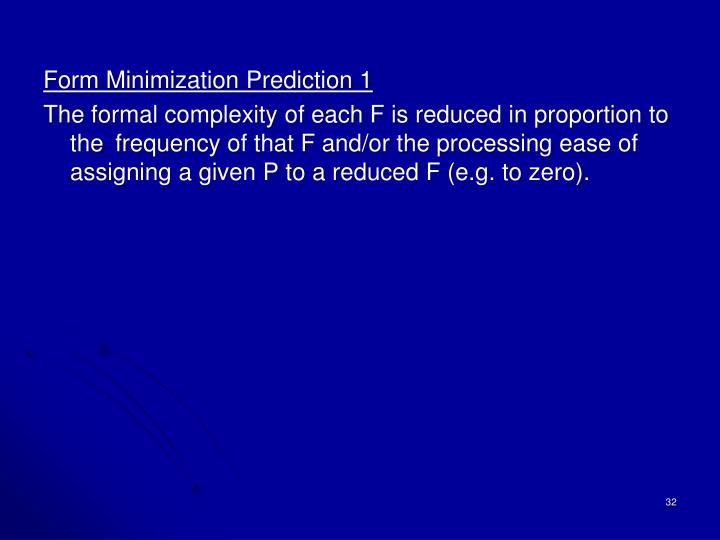 Form Minimization Prediction 1